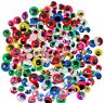 200 Googly Eyes Craft Coloured Eyelashes New Wobbly Mixed Sizes 5 Colours STICKY