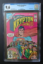KRYPTON CHRONICLES Limited Series #1 Superman Roots 1981 SYFY Channel TV CGC 9.6