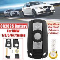 Auto Schlüssel Fernbedienungen 3 Tasten+ CR2050 Batterie Set Für BMW 1-7 er