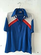 vintage t shirt blue with white and red in great condition size L