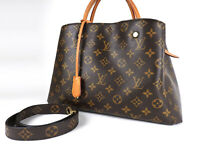 Auth LOUIS VUITTON Montaigne MM Monogram 2way Tote Bag Shoulder Bag M41055 V1713