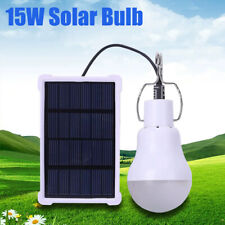 15W Solar Powered Panel Led Lighting Lights 130Lm Portable Bulb Outdoor Indoor