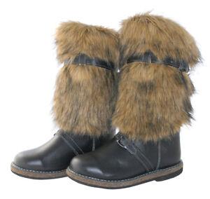 "Russian High Fur Boots ""UNTY"" 100% Sheepskin Wolf Mukluks UGG Winter Hunting"