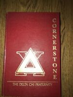 1988 DELTA CHI  FRATERNITY CORNERSTONE MANUAL HARD COVER California Chapter