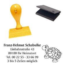 Adressenstempel « SCHILDKRÖTE 2 » mit Kissen - Firmenstempel - Echse