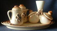 Unique Studio Pottery Handmade ceramic Tray / Jugs / Salt Pepper pots Condiment