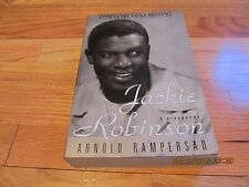1997 JACKIE ROBINSON-A BIOGRAPHY Arnold Rampersad RANDOM HOUSE LARGE PRINT SC/IL