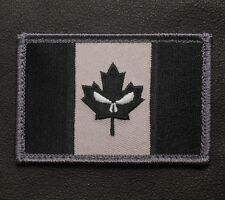 CANADA FLAG GLOW GITD PUNISHER TACTICAL SWAT OP VELCRO® BRAND FASTENER PATCH