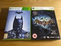 Batman Arkham Asylum And Origins Xbox 360