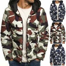 Polyester Hooded Coats & Jackets for Men Quilted