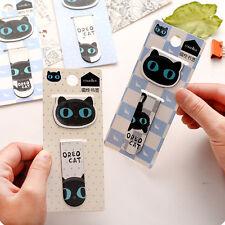 1pcs Creative Cute Cat Paper Clips Bookmark Memo Clip Office School Stationery