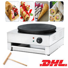 Commercial Electric Crepe Machine Pancake Snack Maker Single Hot Plate Non-stick