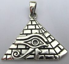 Sterling Silver (925)   Eye  Of  Horus   In   Pyramid  !!        Brand  New  !!
