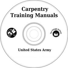 Carpentry I & II Training Manuals/Books on CD - Learn How to be a Carpenter