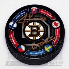 Tuukka Rask Boston Bruins Signed Autographed 2014 Olympic Finland Puck LE