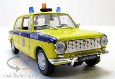 WAS-2101 GAI Polizei Automodell in gelb/blau UdSSR/Russland Maßstab 1:43 - OVP