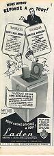 PUBLICITE ADVERTISING  1954    LADEN lave linge machine à laver semi-automatique