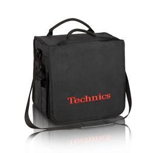 Technics Dj Record Bag Ruck Sack 50 vinyl LP Black / Red Logo SL 1200 SL 1210