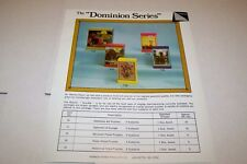 Vintage WARREN PAPER PRODUCTS - DOMINION PUZZLES ad sheet #0227