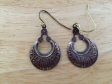 With French Wires Vintage Bronze Tone Earrings
