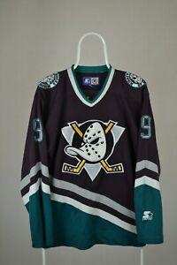 vintage starter nhl mighty ducks jersey #9 Kariya Sz M