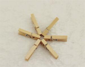 10-200 Stück Mini Holzklammern 25mm kleine Holz Wäscheklammern - Basteln- Bastel