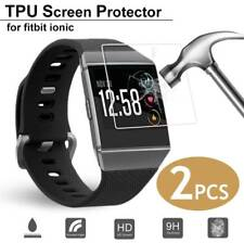 2X Anti-Scratch Tempered Glass Screen TPU Protector Film For Fitbit Ionic Watch