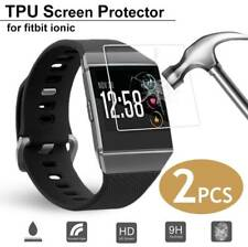 2x Anti-Scratch TPU Tempered Glass Screen Protector Film For Fitbit Ionic Watch