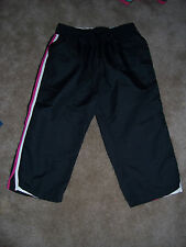NWT Womens BCG Black/Berry Athletic Style Capri Pants Size Small