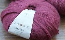 Rowan Fine Lace 925 Quaint deep pink suri alpaca fine merino wool  4 x 50g ball