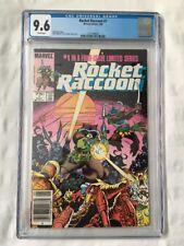 ROCKET RACCOON #1 (1985 Marvel) CGC 9.6 NM+ White - NEWSSTAND Variant - HTF GOTG