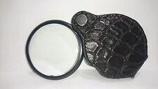 Genuine Alligator Leather Pocket Loupe/ Magnifying Glass