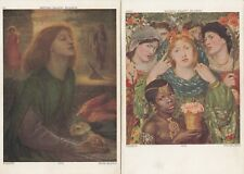 Rossetti lot 2 ak beata Beatrix + The Beloved arte tipo artistas 1803048