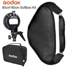 GODOX 80x80cm Photo Camera Softbox Diffuser with S Mount Holder for Studio