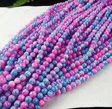 1set/16inch Beautiful flower Agate Pendant bead 8mm BC4377