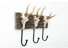 3 Hook Skull Coat Rack - Horned Skull - Gothic Unique Hanger Home Decor