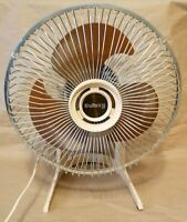 GALAXY Personal Desk Electric FAN 9-INCH Brown ACRYLIC BLADE VINTAGE - TESTED