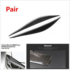 Pair 3D Carbon Fiber Color Headlights Eyebrows Eyelids Stickers For BMW 3 Series