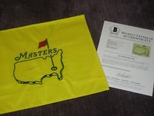 JACK NICKLAUS (PGA) Signed Embroidered Undated MASTERS Flag w/ Beckett LOA