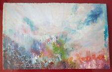 Gustave Bourgogne huile sur panneau signée art abstrait Oeuvre Musicaliste