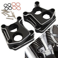 CNC Aluminum Front Rear Lifter Tappet Block Covers For Harley Davidson Twin Cam