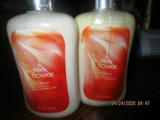 X 2 Bath & and Body Works BUTTERFLY FLOWER Lotion 8 oz  Signature Collection NEW
