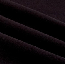 "Fabric Luxe Fleece Licorice Black Color Solid Premium 1 Yard x 59"" wide NEW"