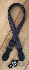 Leather Graft Black With White Dots Ukulele Strap