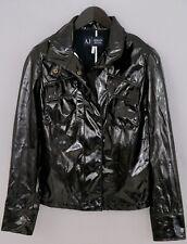 PVC Look Bagnato Giacca Cappotto L Pioggia Cappotto spessa da uomo lucido nuovo con etichette