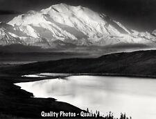 "Mt. McKinley and Wonder Lake 8.5x11"" Photo Print Ansel Adams Denali Landscape"