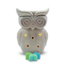 Wax Burner-Grey Owl Electric wax tart warmer with light, dimmer & summer scents