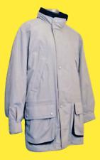 Marks & Spencer Mens Beige Hooded Quilt Fleece Lined Parka Jacket Size Medium