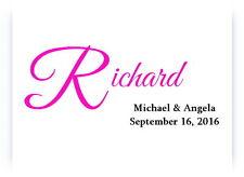 100 Personalized Monogram Names Bridal Wedding Thank You Cards