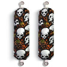 Orange Skull Ski-Doo Bombardier BRP Shock Protector Covers Snowmobile (Set 2)New